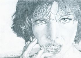 Milla Jovovich by WitchiArt