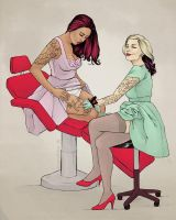 Tattoo Pin Up by blindthistle