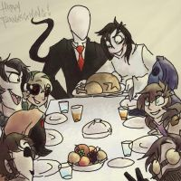 Happy Thanksgiving from the Creeps! by Loopy44