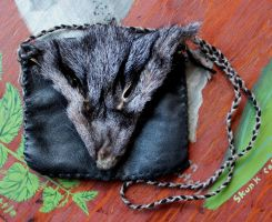 New leather and fur pouches - 6-10-14 by lupagreenwolf