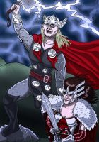 Thor And Sif by Cronoman66