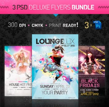 Deluxe Party Flyer Bundle by jellygraphics