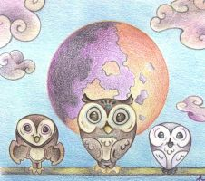 Owls by Moonlight by Spiralpathdesigns