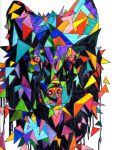 Abstract Wolf Pack: Watchful by HeartBeatArt