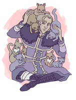 ANDERS WITH CATS by unseam