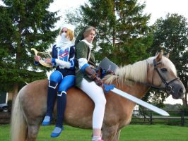 Horse Ride Sheik and Link by IreneMarleenAyuma