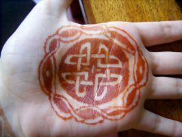 Celtic Henna Design  - Palm 2 by Wrayth-Acheron