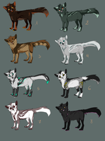 .:Wolves adoptables 12:. [CLOSE] by O-Shana