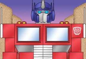 Optimus Prime at Dusk by Gamma-V
