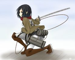Mikasa by scwibbles