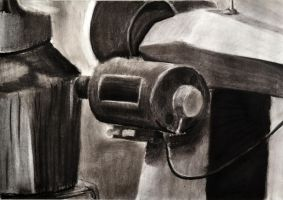 Charcoal Still life. Drawing II by Jesus-Fishboy