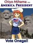 Chiyo Mihama For America President by TexasUberAlles