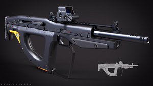 Bullpup Weapon Concept by DrZoidberg96