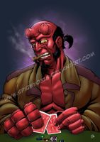 Hellboy poker by spidey0318