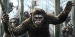 Dawn Of The Apes Painting by Robert Marzullo by robertmarzullo