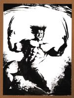Wolverine Black and White 090612 by ChrisMcJunkin