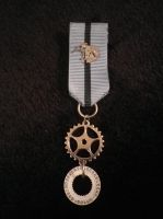 Chrono Specialist steampunk medal by SteamworkMedals