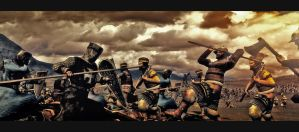 Crusader Battle by MalteBlom