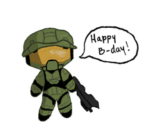 Chibi Master Chief For My Little Bro! by B4ItWasMainstream