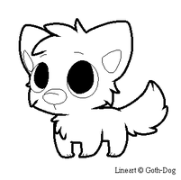 Doggu Lineart by RegallyFlawed