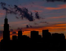 Chicago Sunset by gerald-the-mouse3