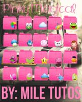 Folders Pinky Magical by MileTutos