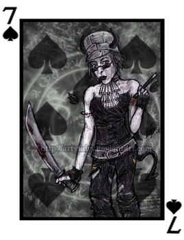7 of spades by Artyfairy
