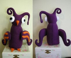Purple and Orange Bird Plushie by vannesdesigns
