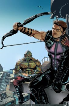 Commish- Downtime (Hawkeye and Drax) by JavierReyes