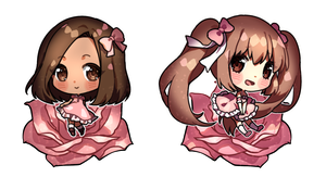 Twitter Giveaway Prizes - Pinks by Rosuuri