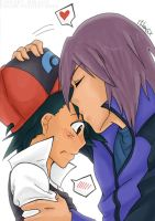 Pokemon DP: Kiss on the Forehead by Vulpixi-Misa