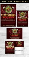Casino Magazine Ads or Flyers2 Template by Hotpindesigns