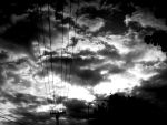Black Clouds and Power Lines by screamwhatyouare