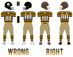 Steelers Retro Uniform Comparison by SimplyMoono