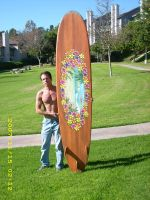 Me and my vintage surfboard by MuralsbyLeBold