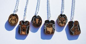 British Animal Pendants by BumbleBeeFairy