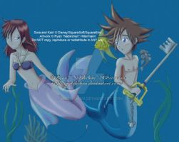 KH - Mermaid Sora and Kairi by Nabikchan