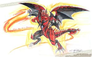 Scar Red Nova Dragon Playmat by slifertheskydragon