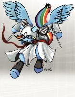 Rainbow Dash - Assassin by TheLivingShadow