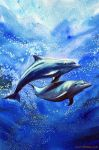 Dolphins under water by Ezeg