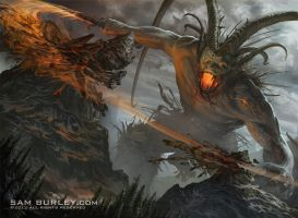 Surtr, Fire of Ragnarok by samburley