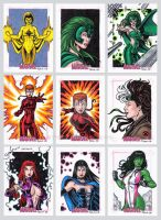 Women of Marvel Sketch Cards L by tonyperna