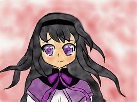 365 Days of Drawing Day 8: Happy Homura by HurricaneChiela