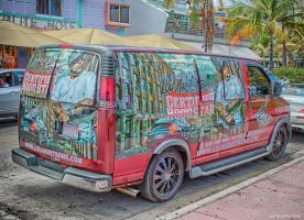 Lou Armstrong Van - Ocean Drive - Miami - HDR by LogisticaLux
