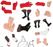 TF2 Hands n Feet- Medic by The-Casual-Owl