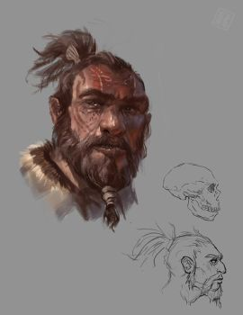 Neanderthal Head by Raph04art