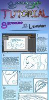 Tutorial - Sketching and Lineart by hannahspangler