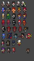 NES FF Sprite Fun III by Clank-head