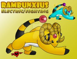 Rambunxius - Electric Fighting Fakemon by JamalPokemon