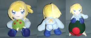 SSBB Samus and Metroid plush by pandari